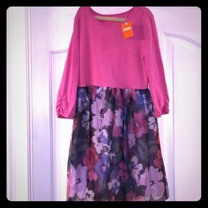NWT Gymboree pink and floral dress -size 12